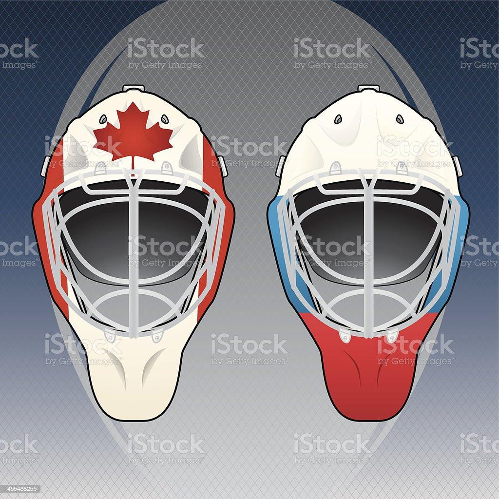 Hockey helmets Emblem royalty-free stock vector art