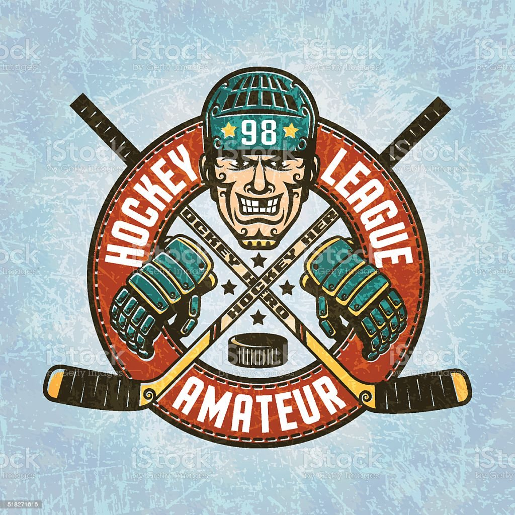 Hockey logo vector art illustration