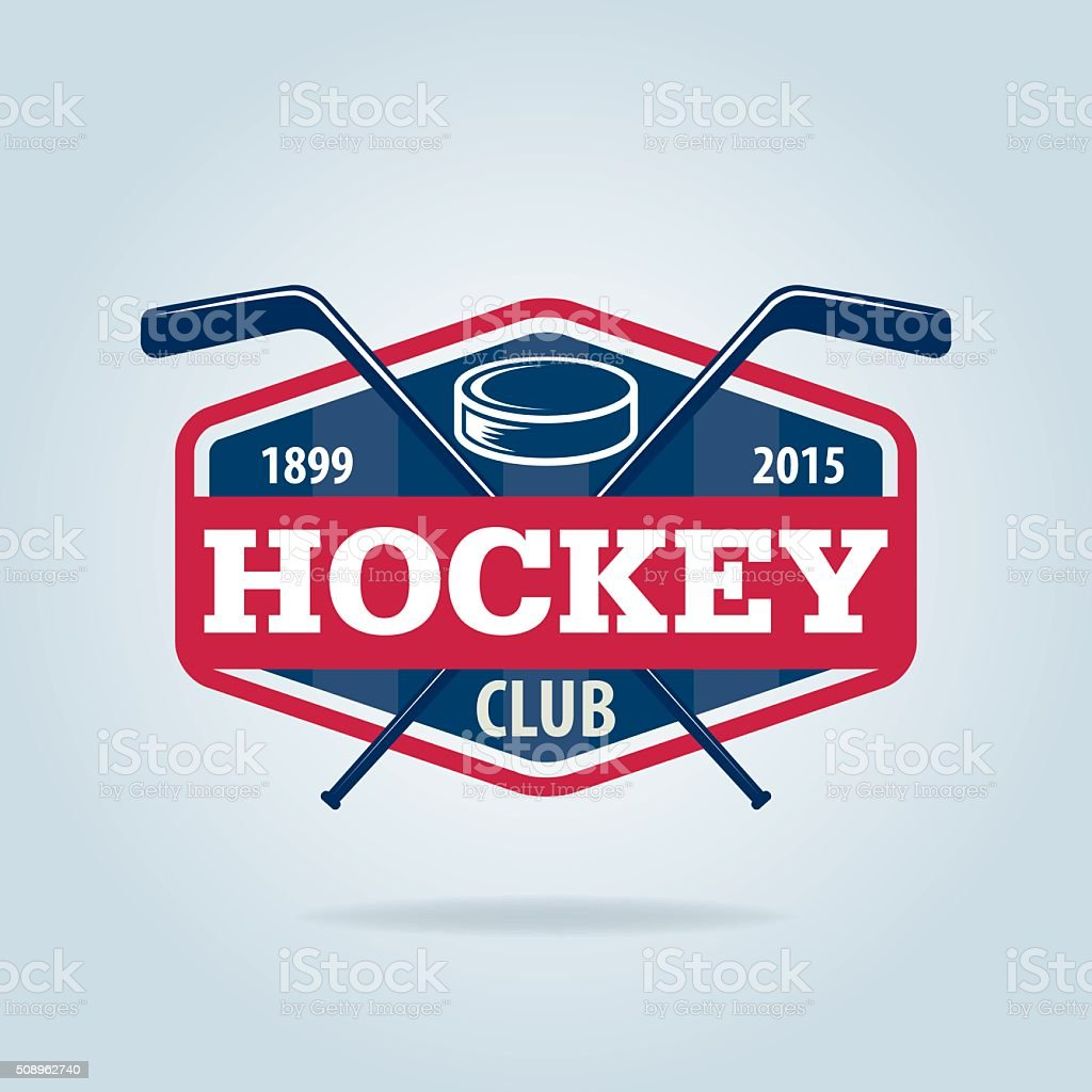 hockey logo,sport identity,team,tournament. vector art illustration