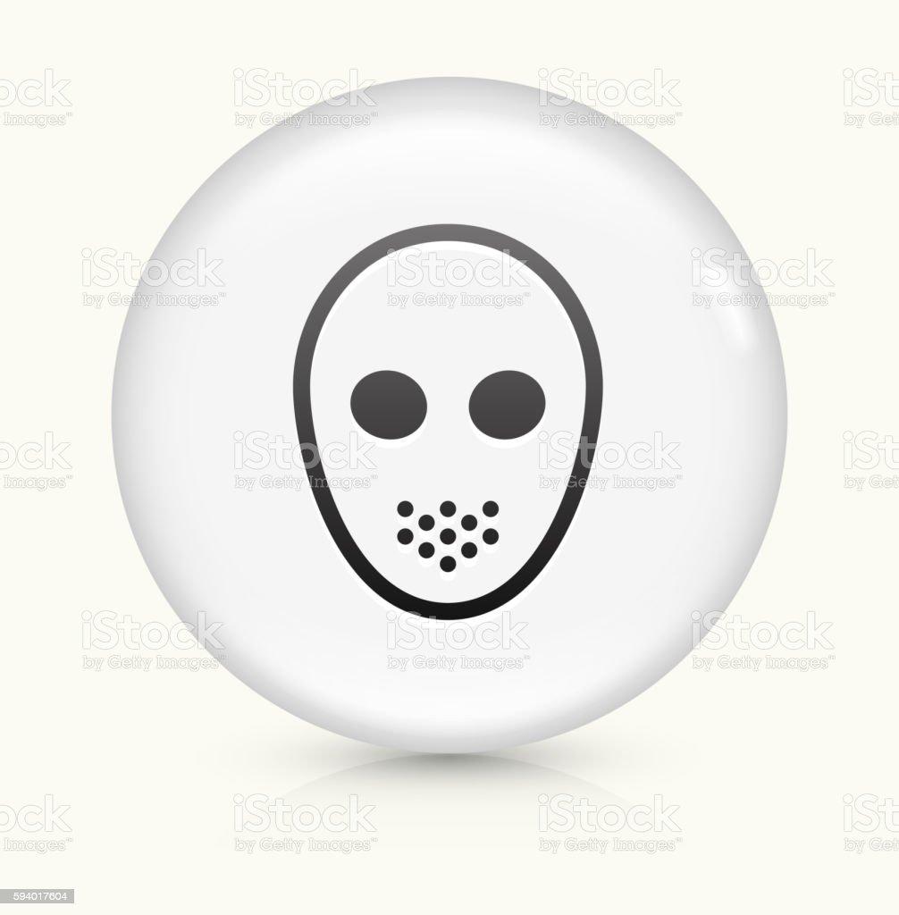 Hockey Mask icon on white round vector button vector art illustration