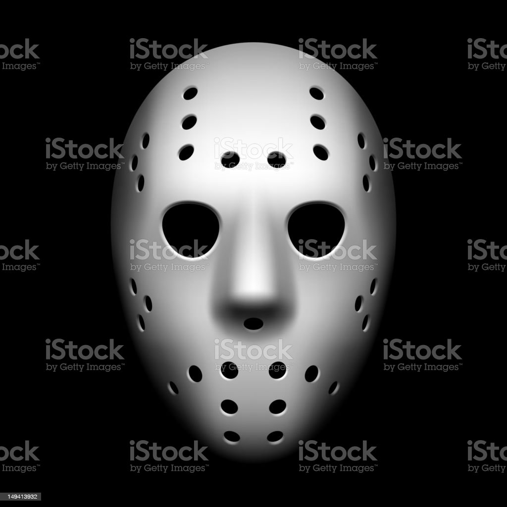 Hockey mask vector art illustration