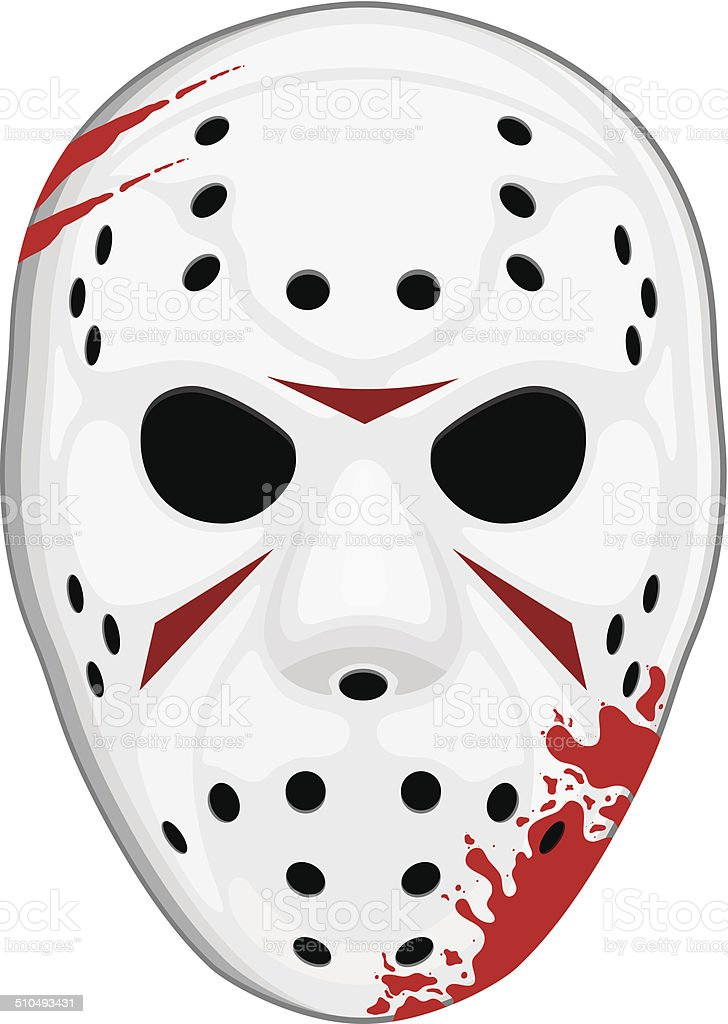 Hockey Mask vector art illustration