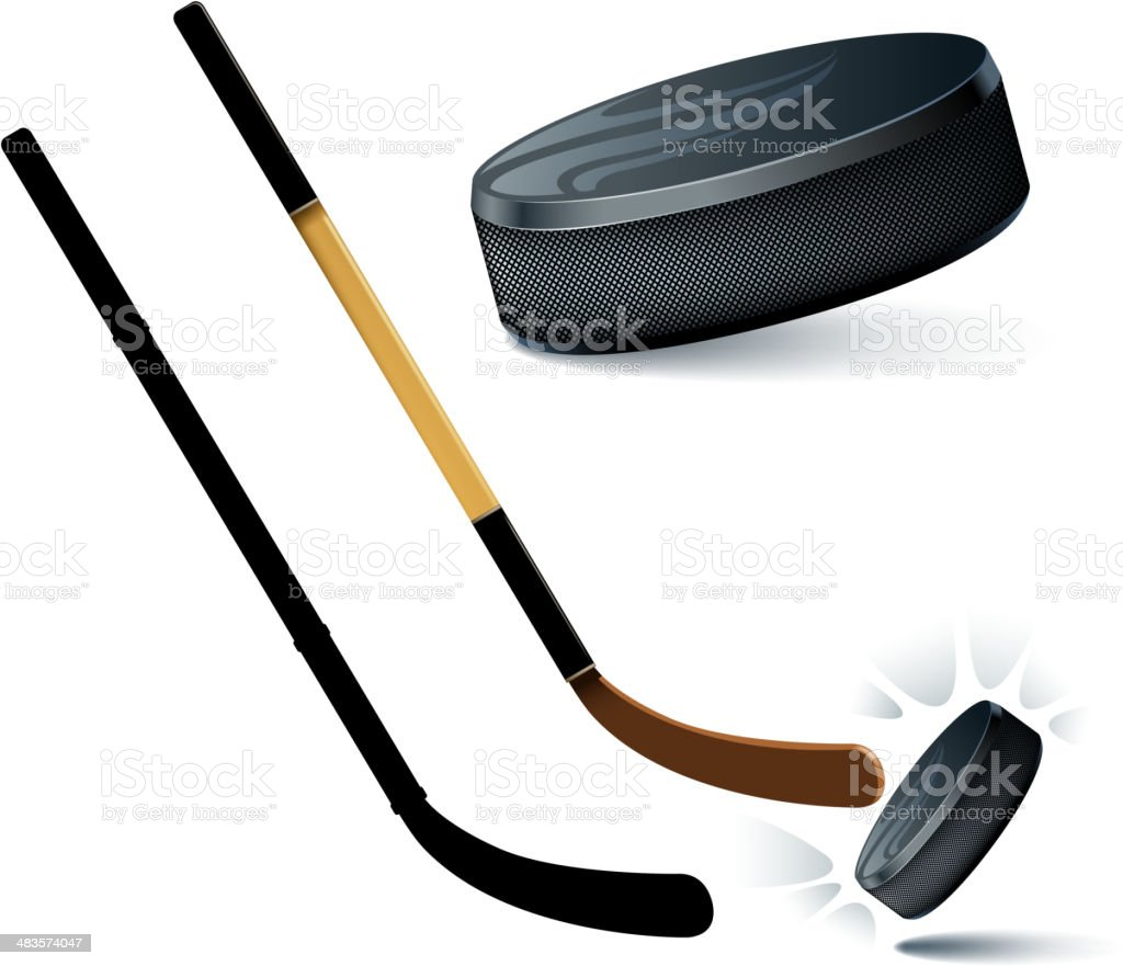 hockey materials royalty-free stock vector art
