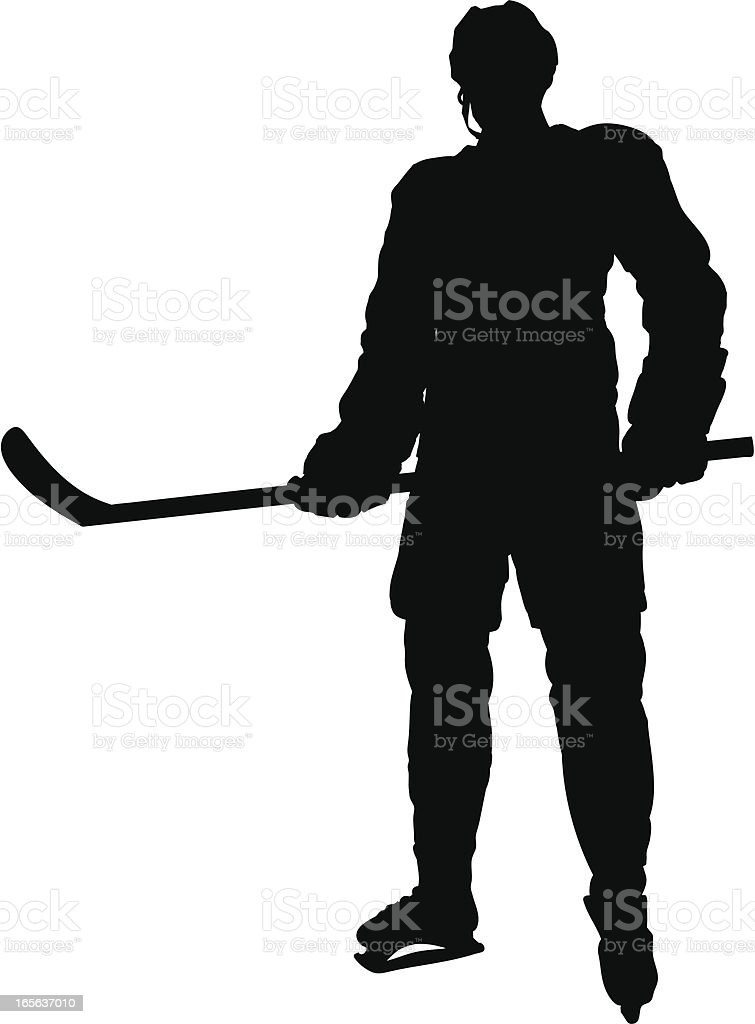 Hockey Player Silhouette royalty-free stock vector art