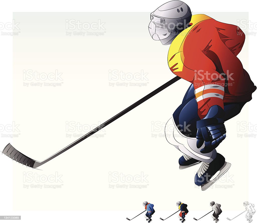 Hockey Player. stock photo