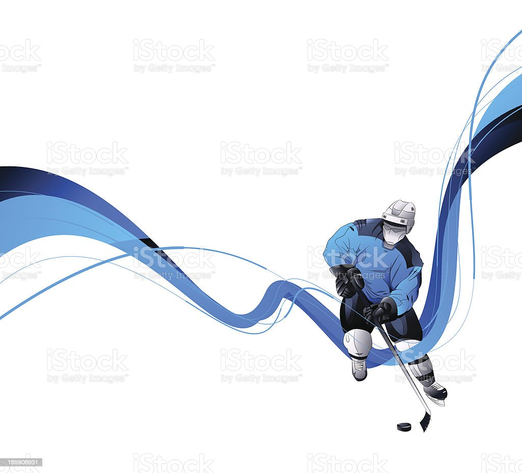 Hockey Player vector art illustration