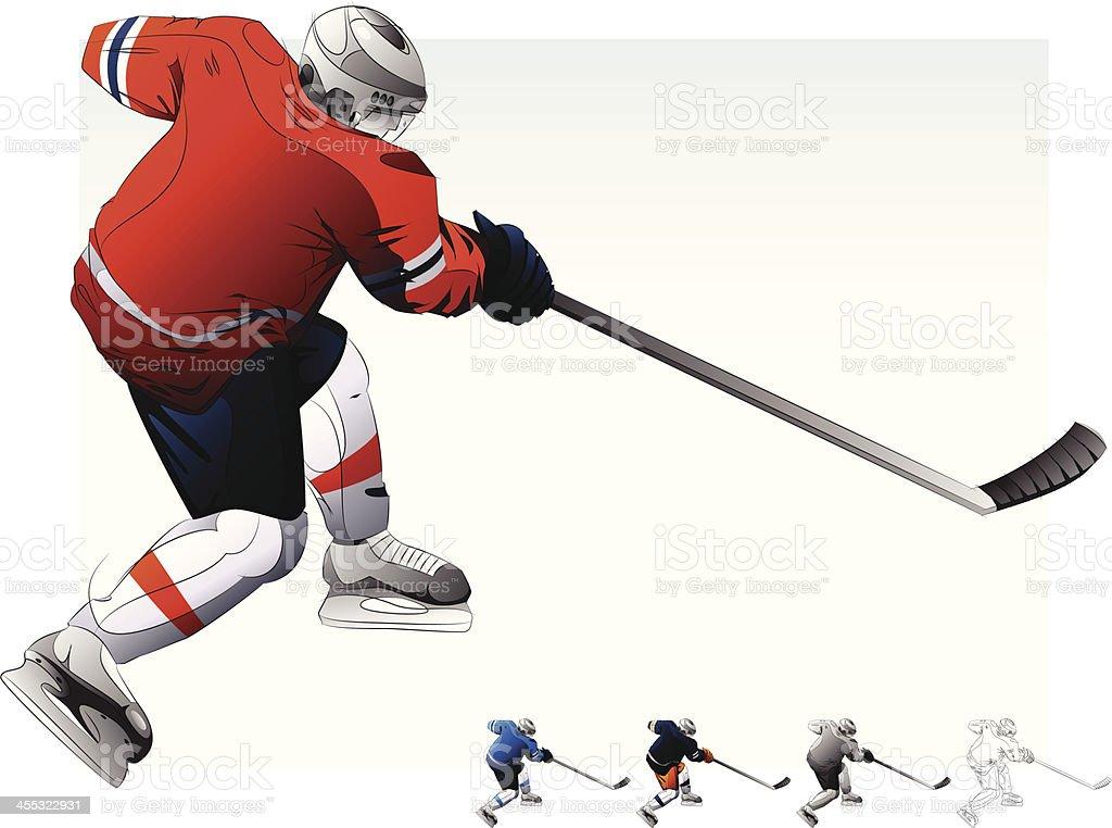 Hockey Player. royalty-free stock vector art