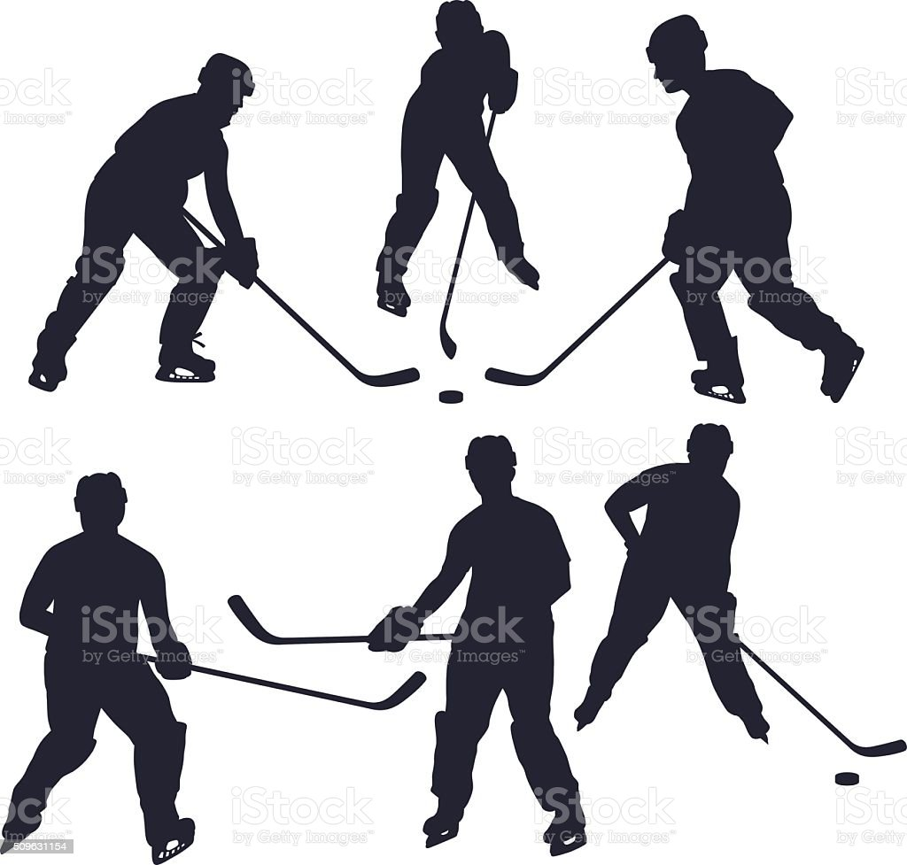 Hockey Players vector art illustration