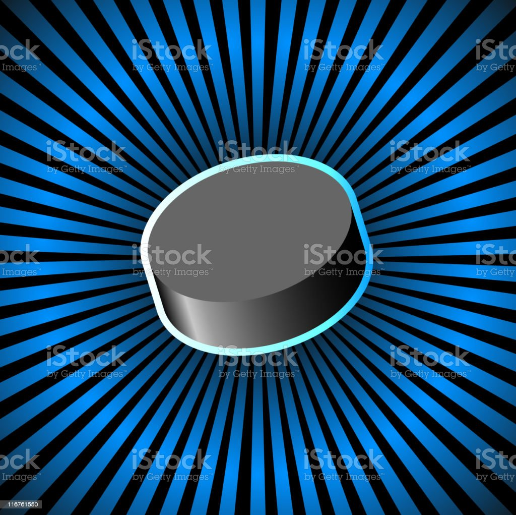 hockey puck on royalty free vector Background with glow effect royalty-free stock vector art