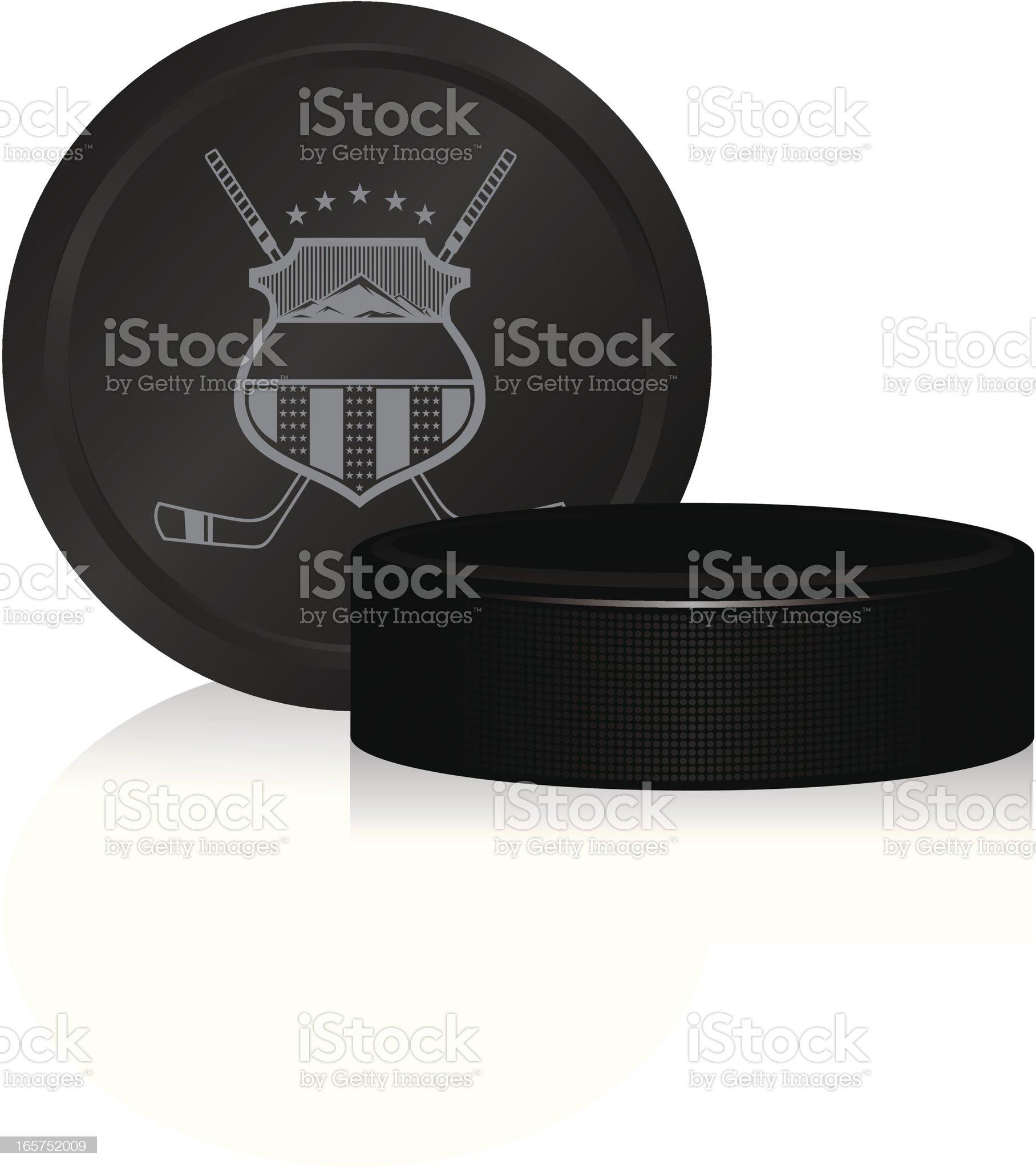 Hockey pucks royalty-free stock vector art