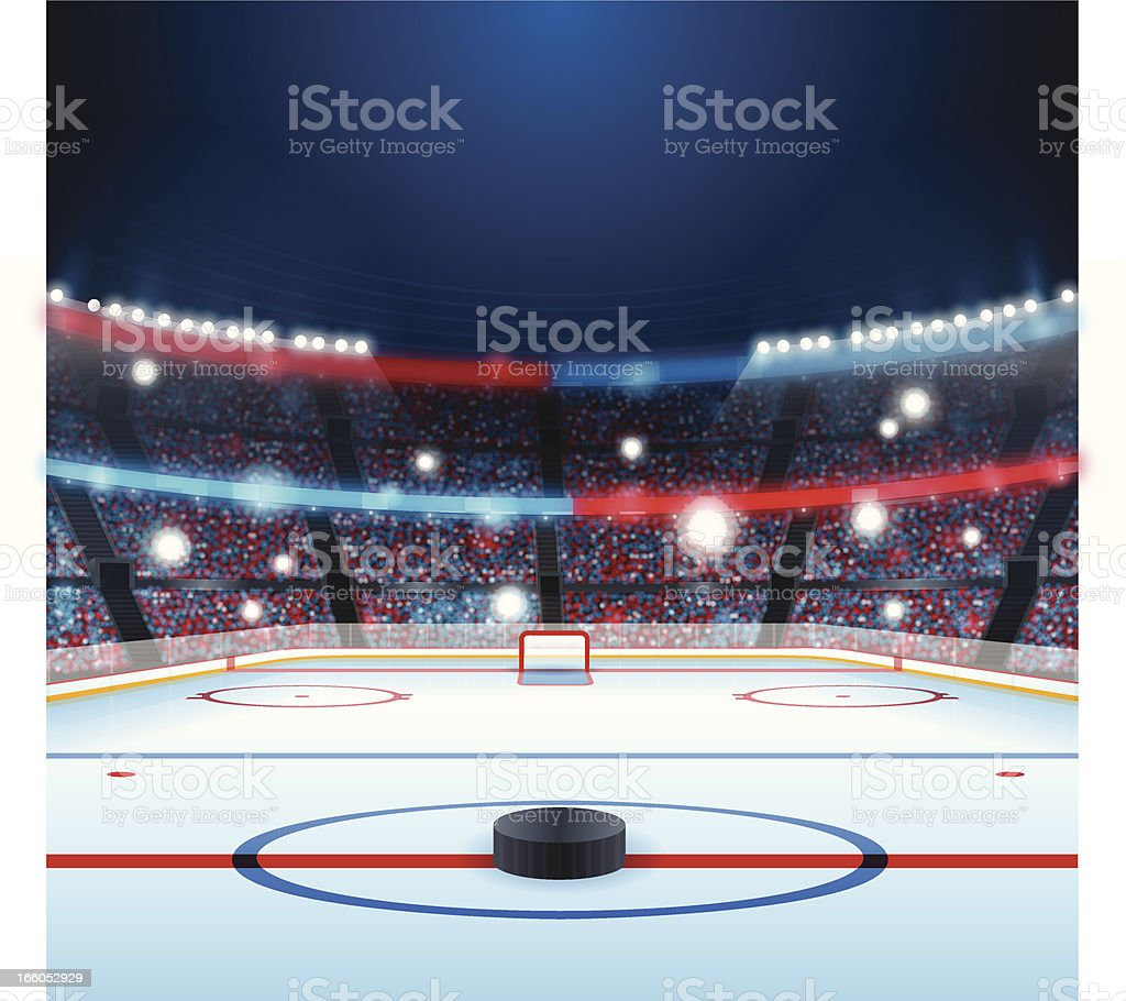 Hockey Rink vector art illustration