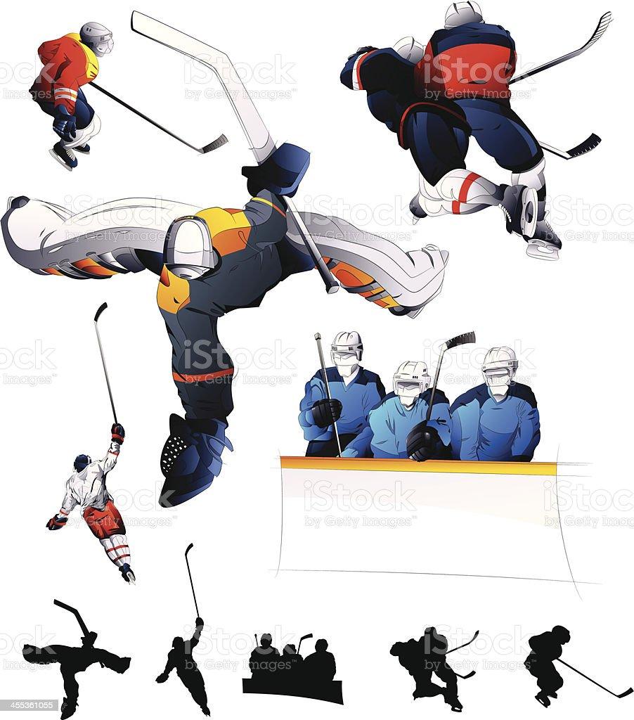 Hockey Set royalty-free stock vector art