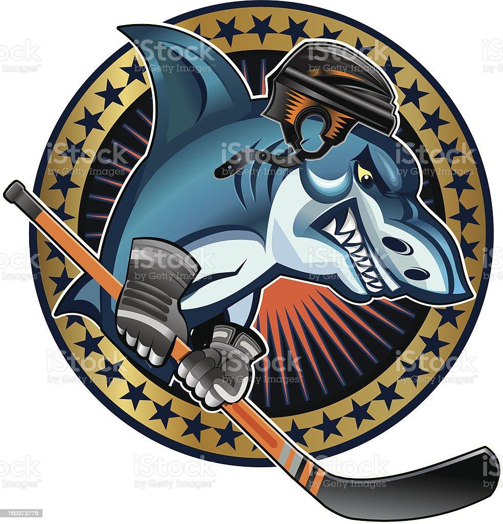 Hockey shark royalty-free stock photo