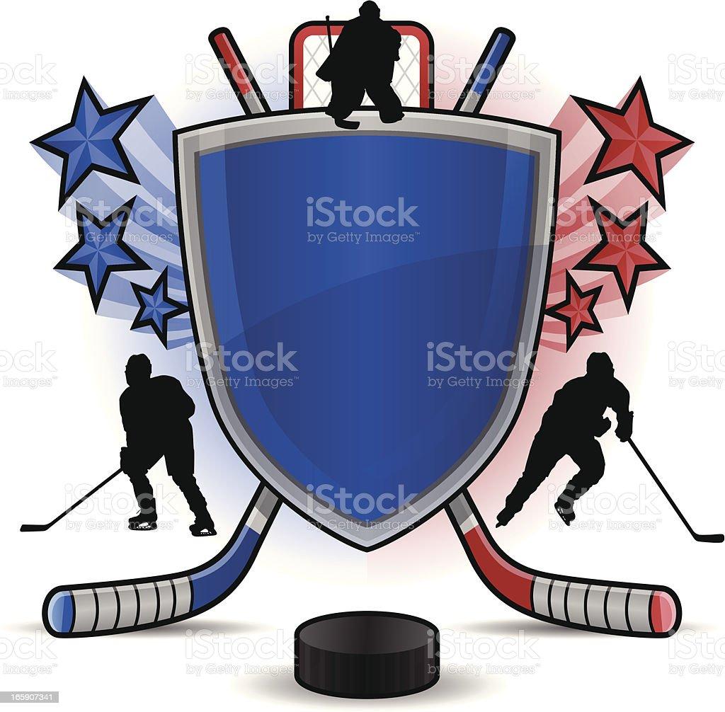 Hockey Shield royalty-free stock vector art