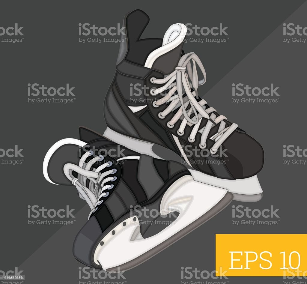 hockey skates isometric vector illustration vector art illustration
