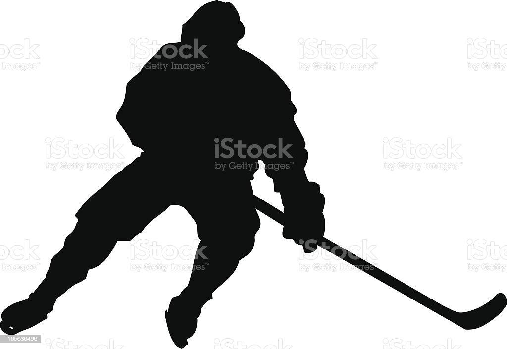 Hockey Slide Silhouette royalty-free stock vector art