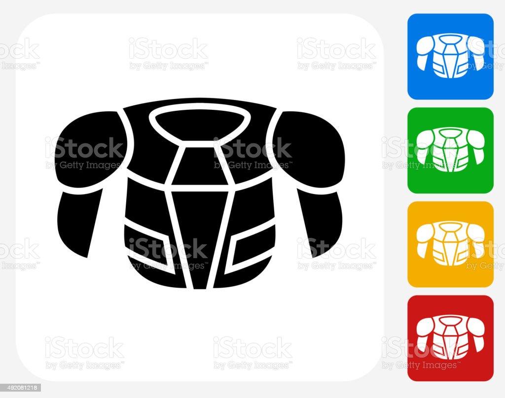 Hockey Sports Wear Icon Flat Graphic Design vector art illustration