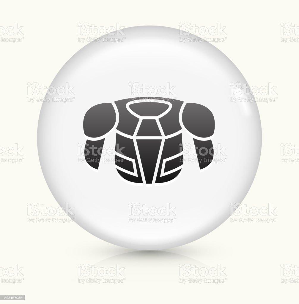 Hockey Sports Wear icon on white round vector button vector art illustration
