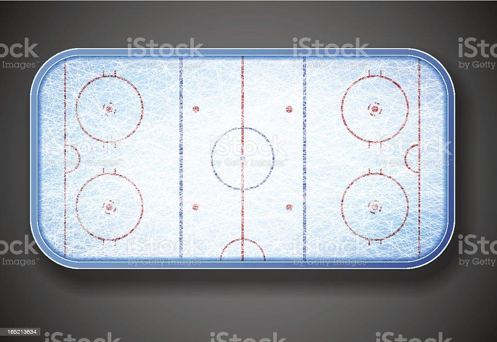 Hockey stadium vector art illustration