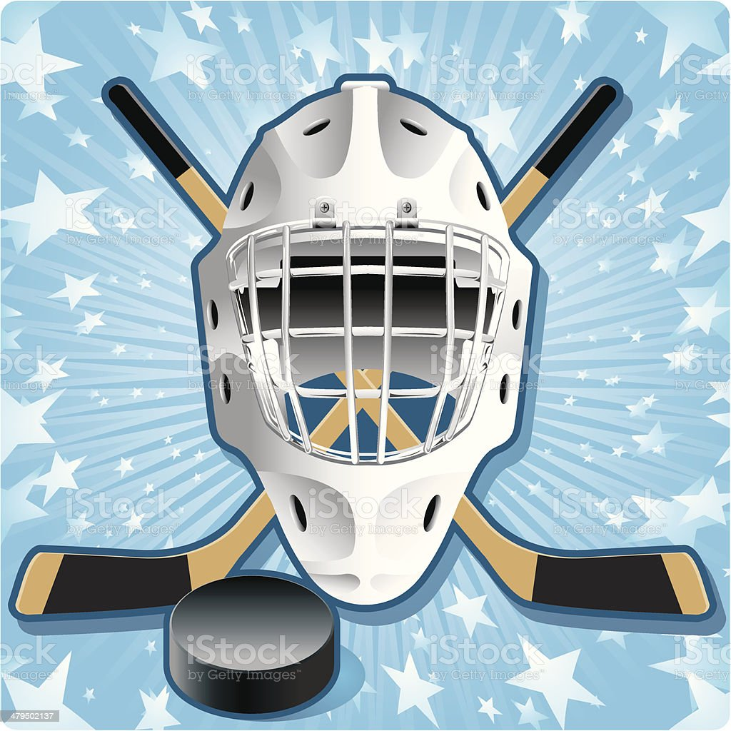 Hockey Stars royalty-free stock vector art