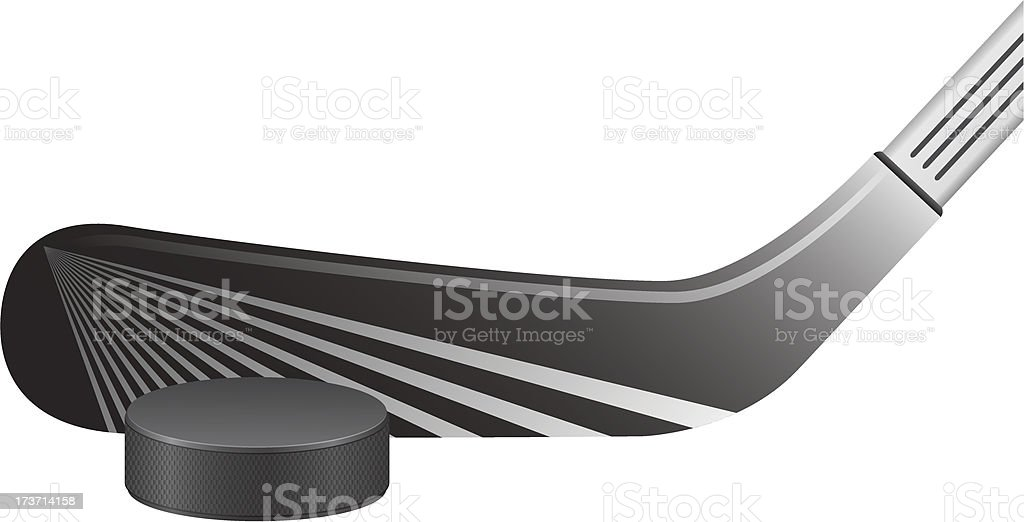 hockey stick and puck vector illustration royalty-free stock vector art
