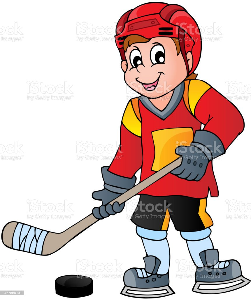 Hockey theme image 1 royalty-free stock vector art
