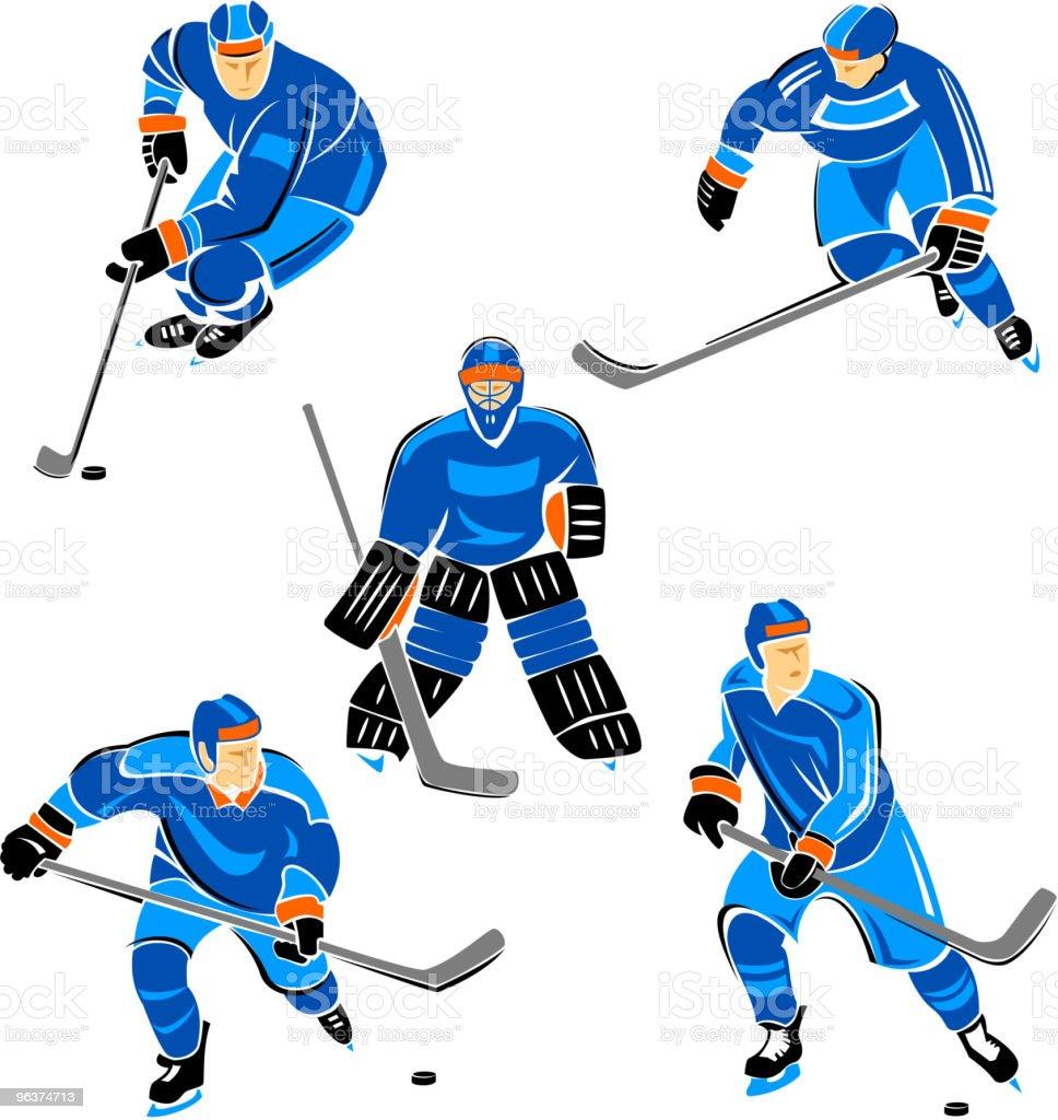 Hockey royalty-free stock vector art