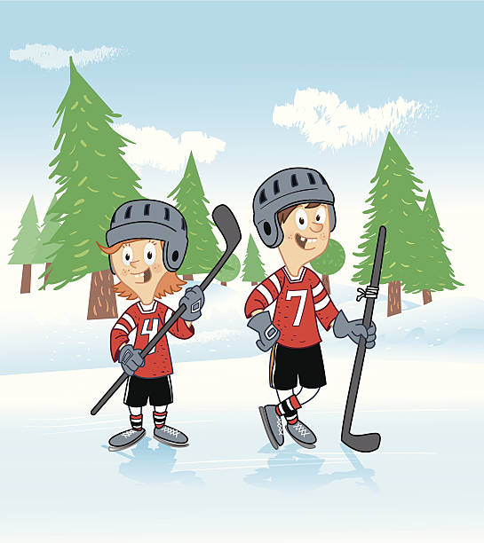 Womens Ice Hockey Clip Art, Vector Images & Illustrations - iStock