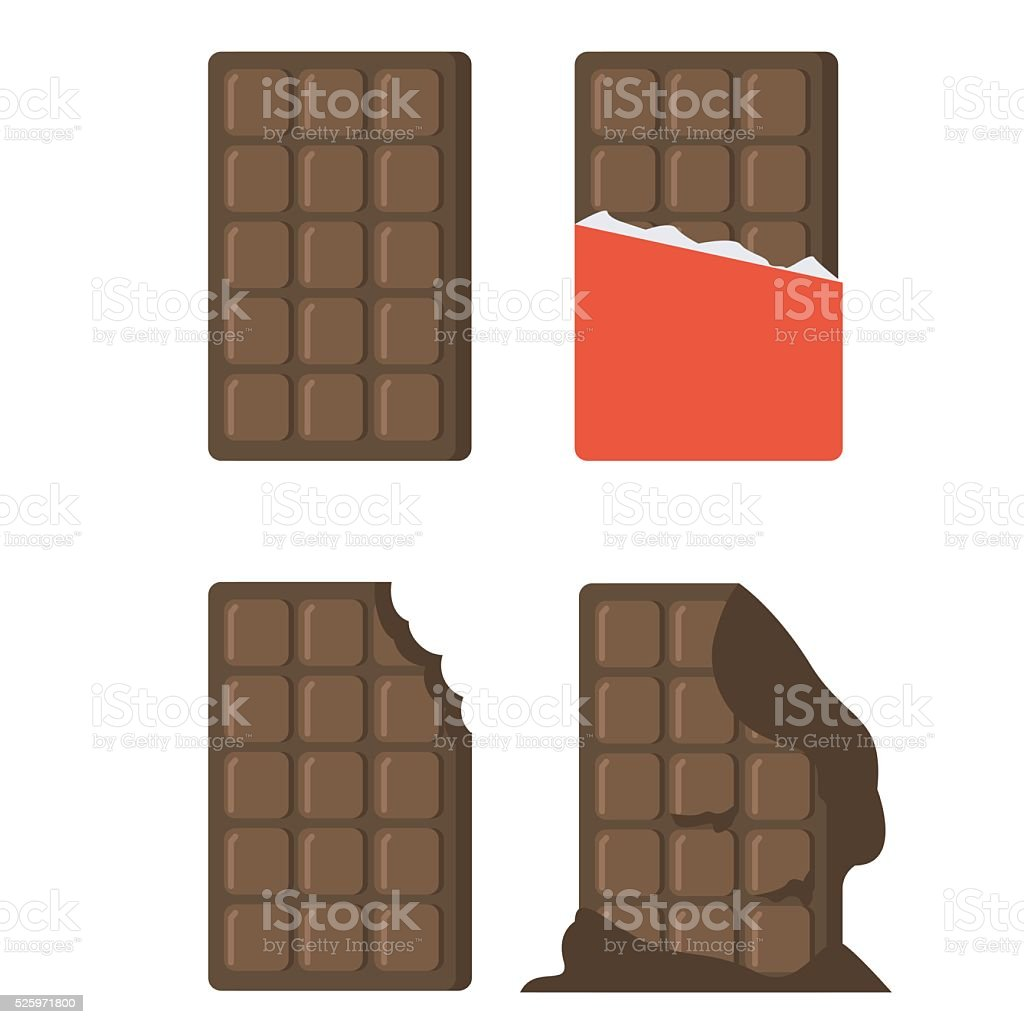 Ð¡hocolate bar vector art illustration