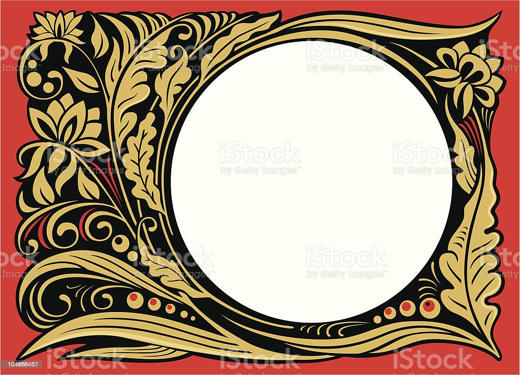 Hohloma royalty-free stock vector art