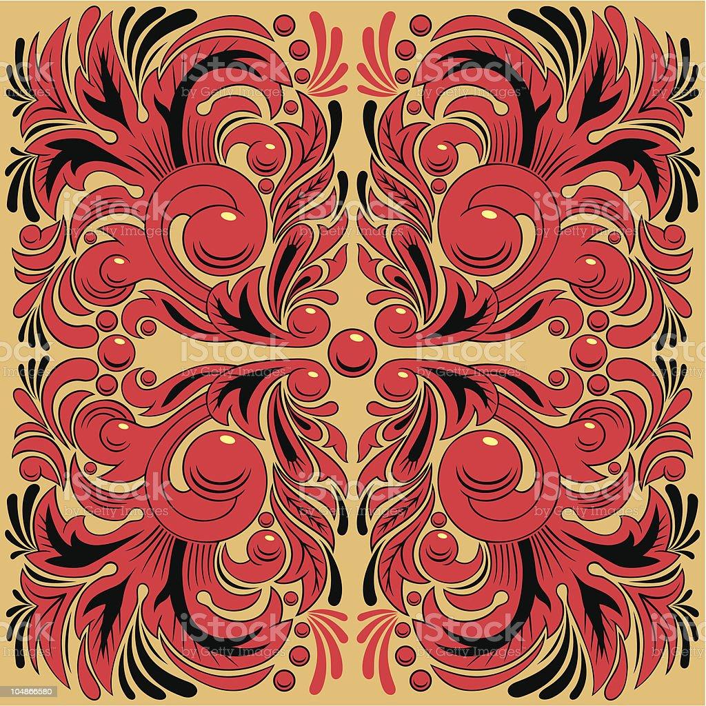 Hohloma royalty-free stock vector art
