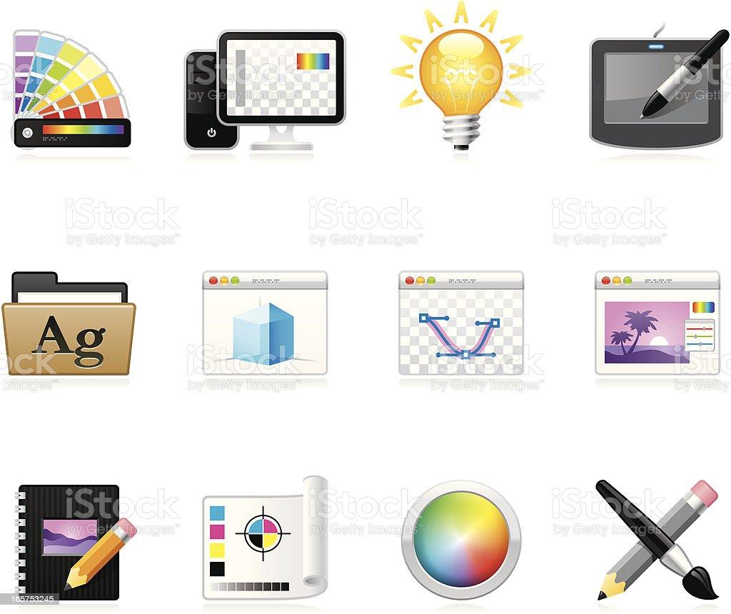 Hola icons - Design Studio vector art illustration