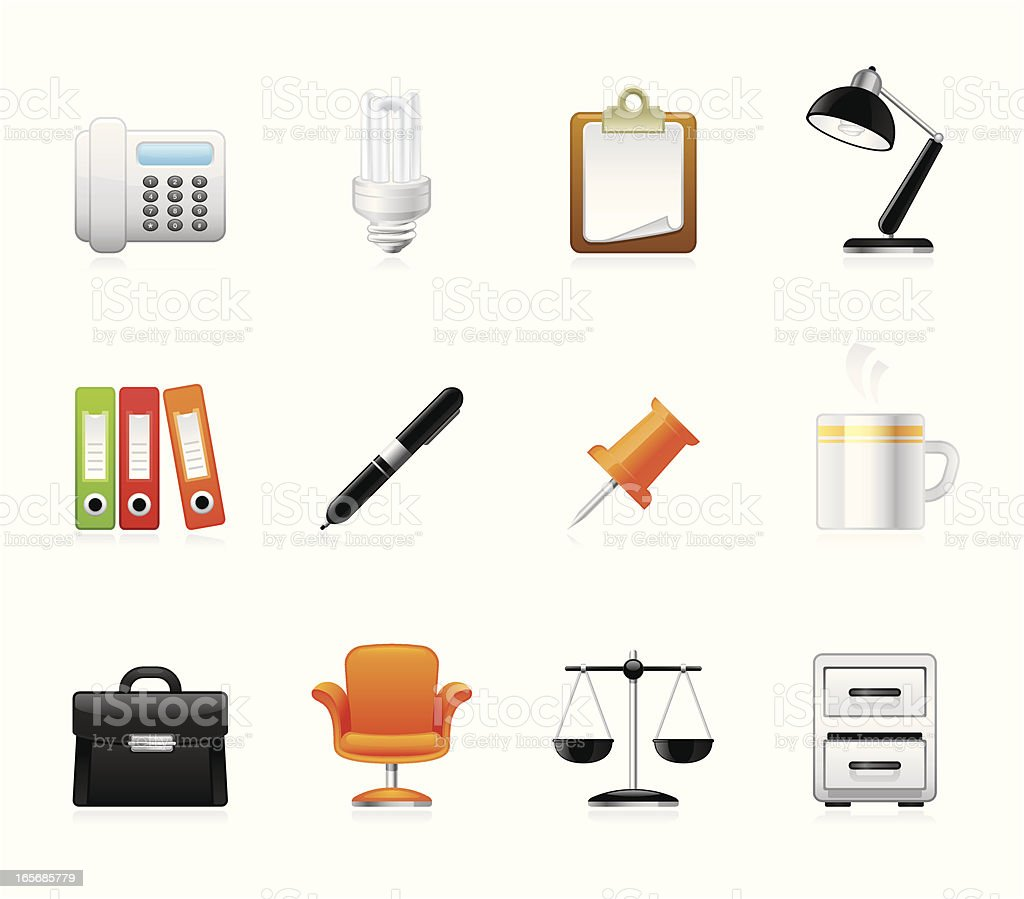 Hola icons - Office royalty-free stock vector art
