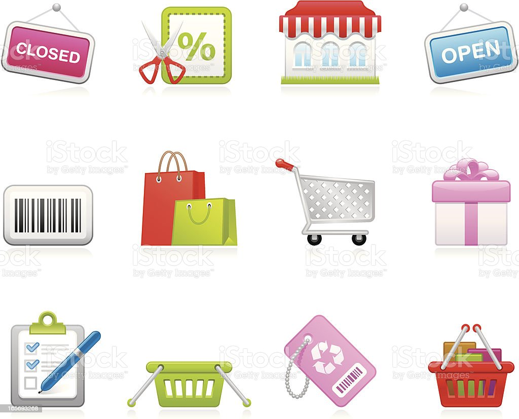 Hola icons - Store and Shopping royalty-free stock vector art