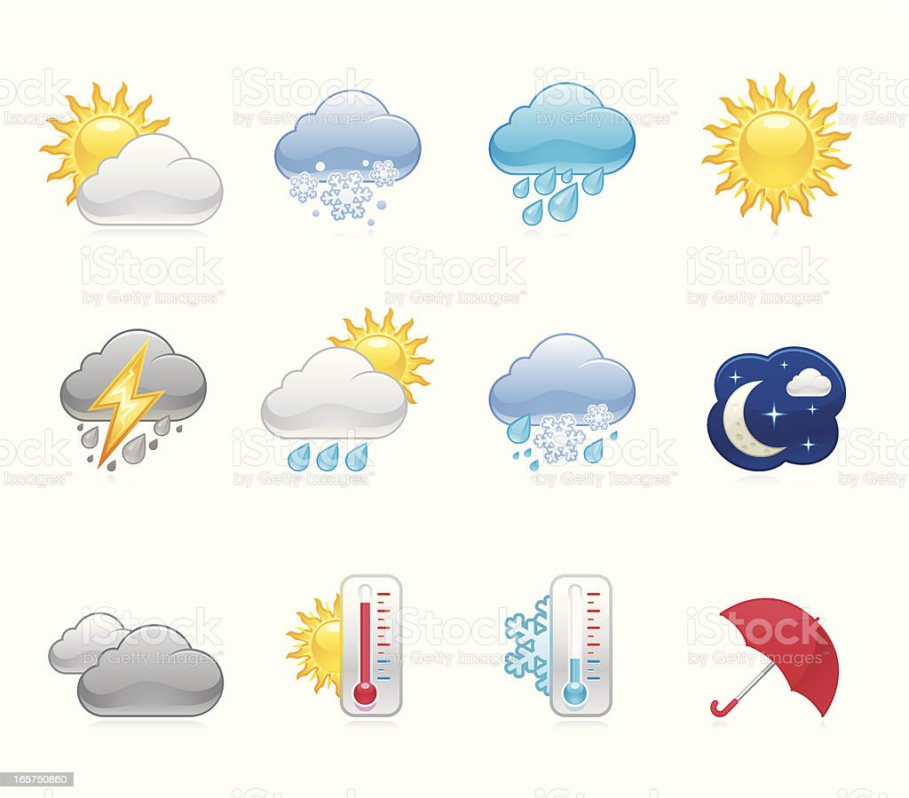 Hola icons - Weather royalty-free stock vector art
