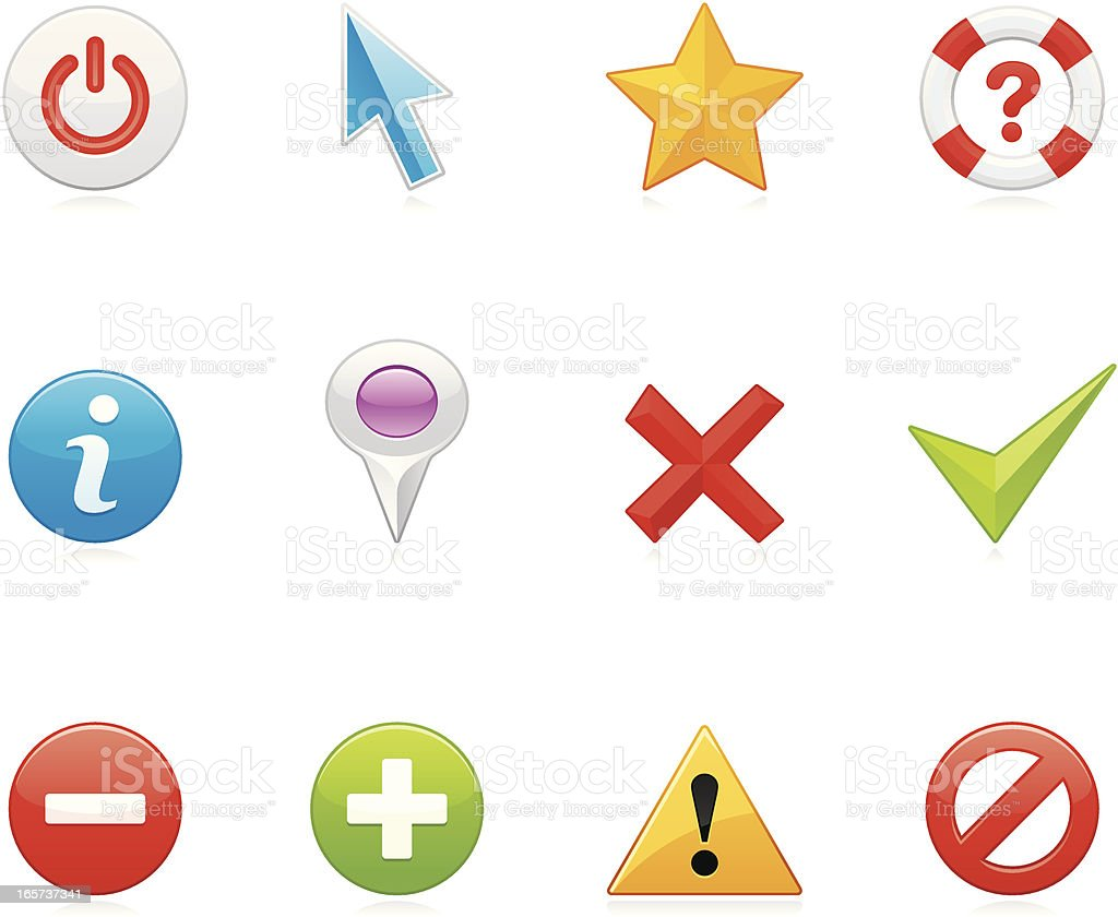Hola icons - Web buttons vector art illustration