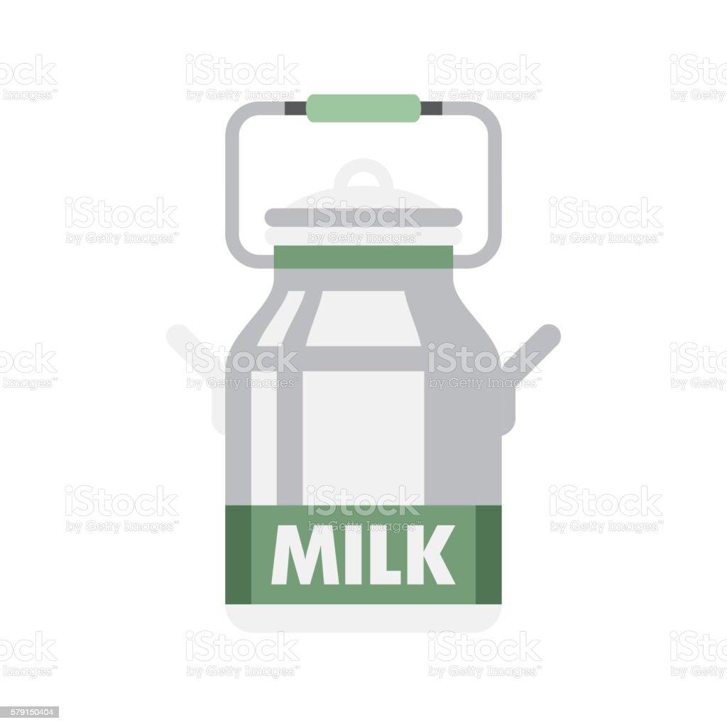 Holandaise Milk Simplified Icon vector art illustration
