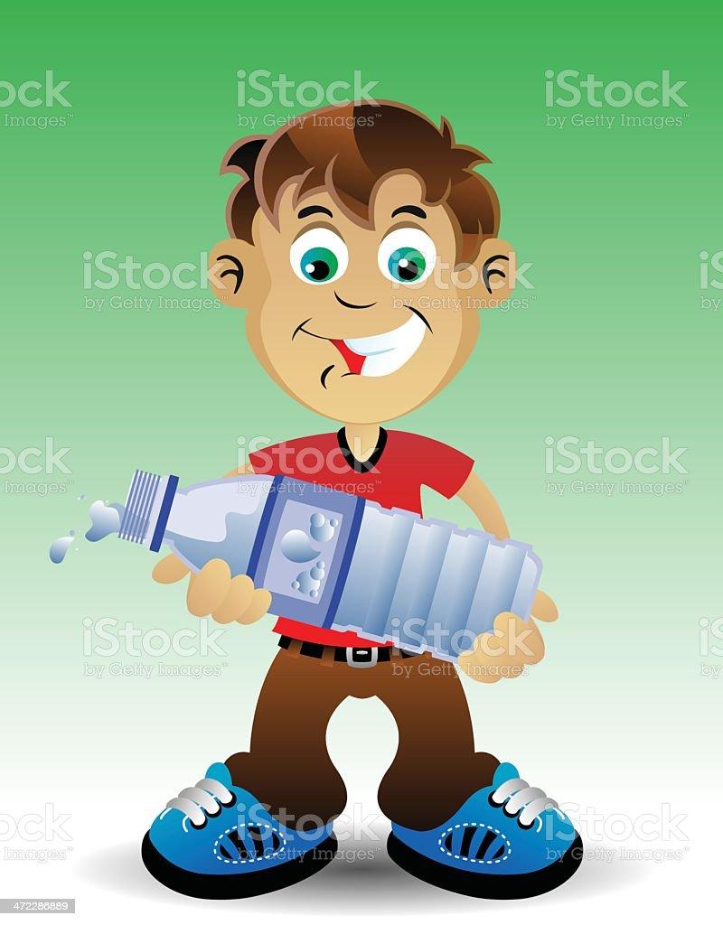 Hold Water Bottle vector art illustration