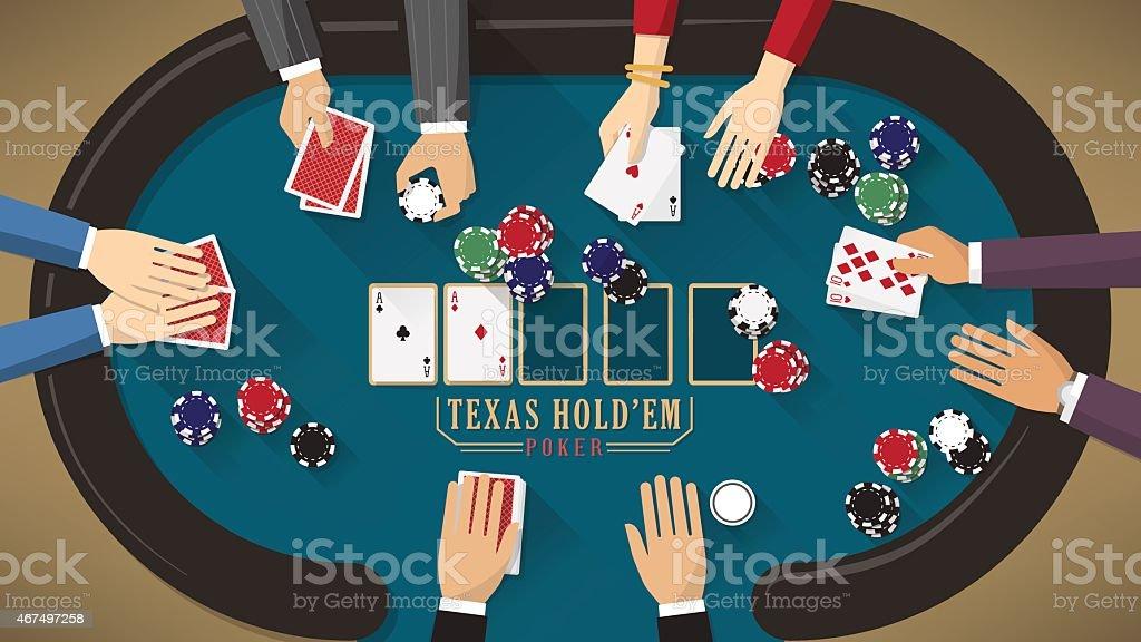 Hold'em poker banner vector art illustration