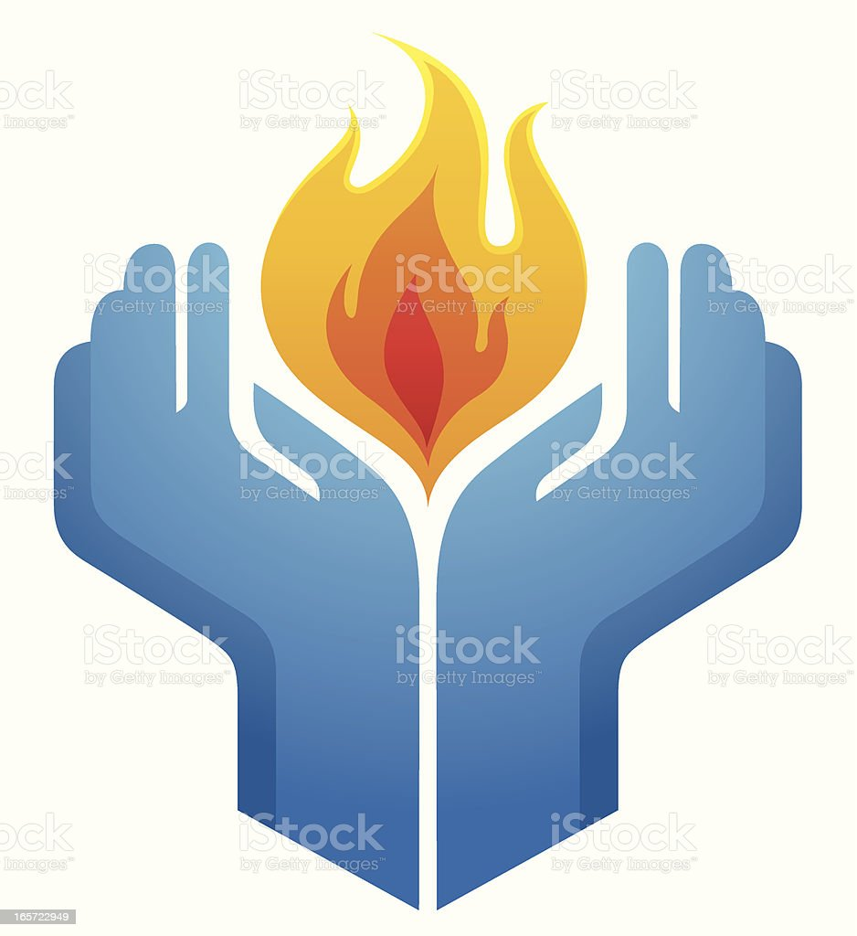 Holding a flame royalty-free stock vector art