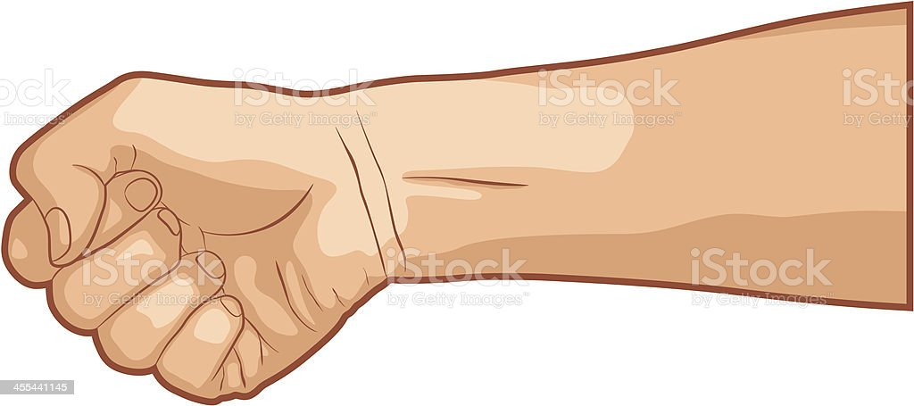 Holding Fist vector art illustration