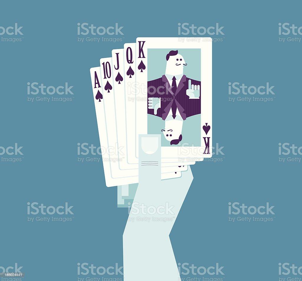 Holding good card vector art illustration