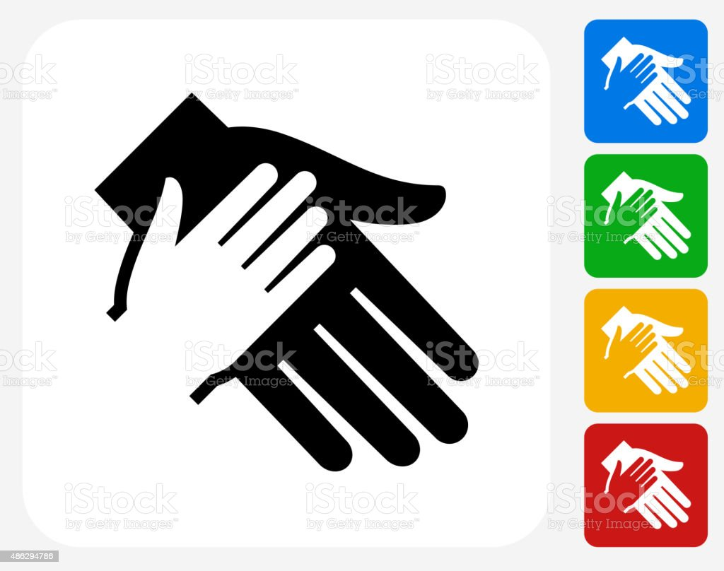Holding Hand Icon Flat Graphic Design vector art illustration