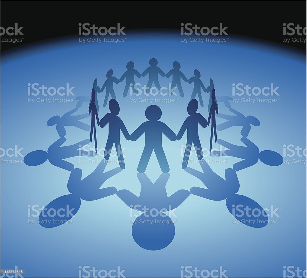 Holding Hands People royalty-free stock vector art