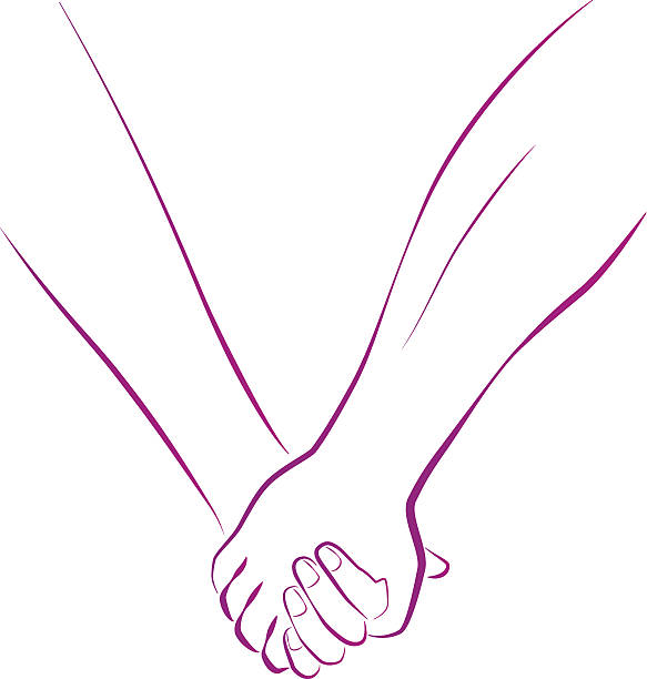 Holding Hands Clip Art, Vector Images & Illustrations - iStock