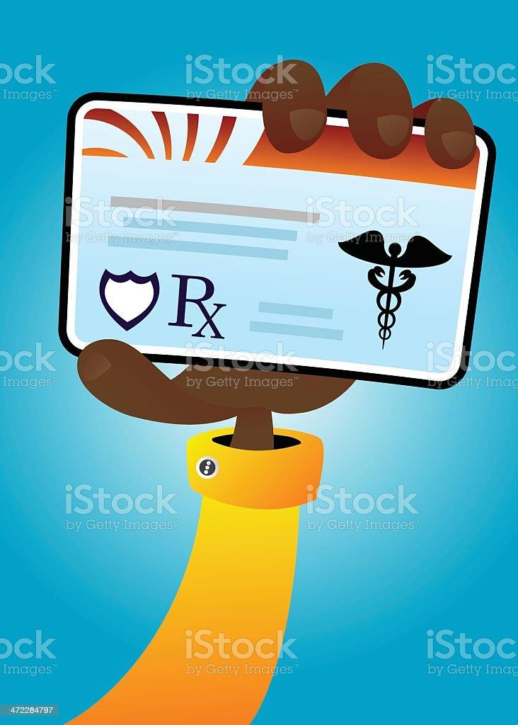 Holding Insurance Card 2 royalty-free stock vector art