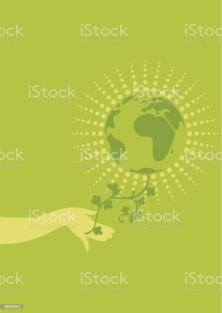 holding the planet royalty-free stock vector art