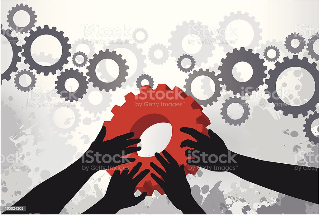Holding the Solution royalty-free stock vector art