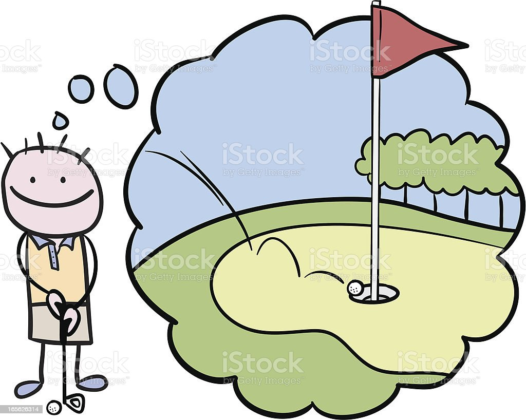 Hole in one royalty-free stock vector art