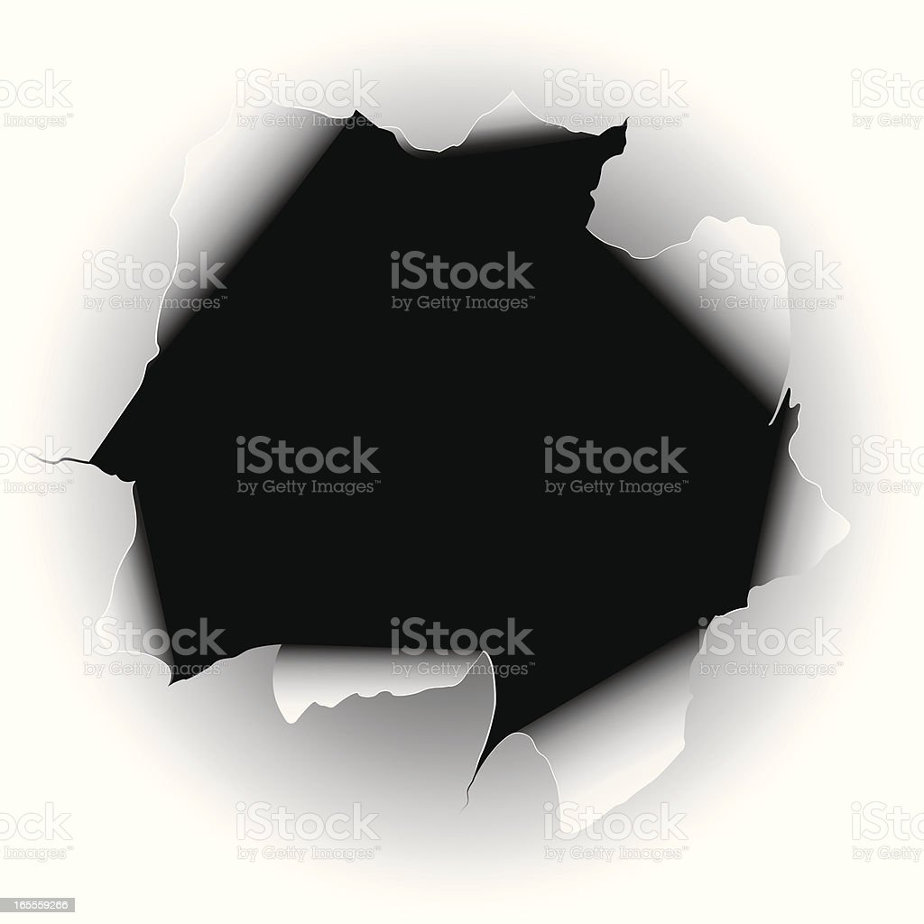 Hole in the Paper vector art illustration